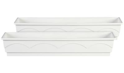 Emsa Blumenkasten »LAGO«, 2er - Set, BxTxH: 100x22x18 cm, weiß kaufen