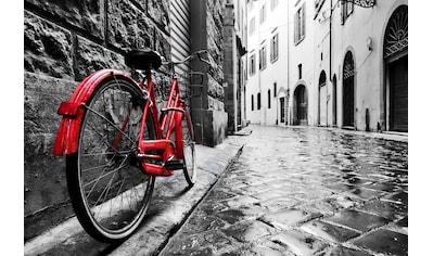Papermoon Fototapete »Retro Old Town Bike«, Vliestapete, hochwertiger Digitaldruck kaufen