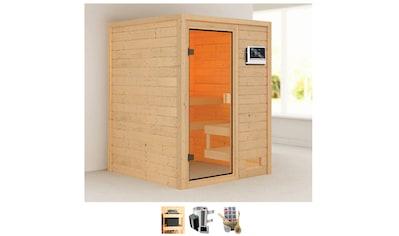 KARIBU Sauna »Sandy«, 3,6 - kW - Plug & Play Ofen mit ext. Steuerung kaufen