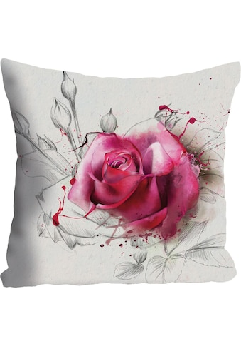 "Kissenhülle ""Rosenblüte"" queence kaufen"