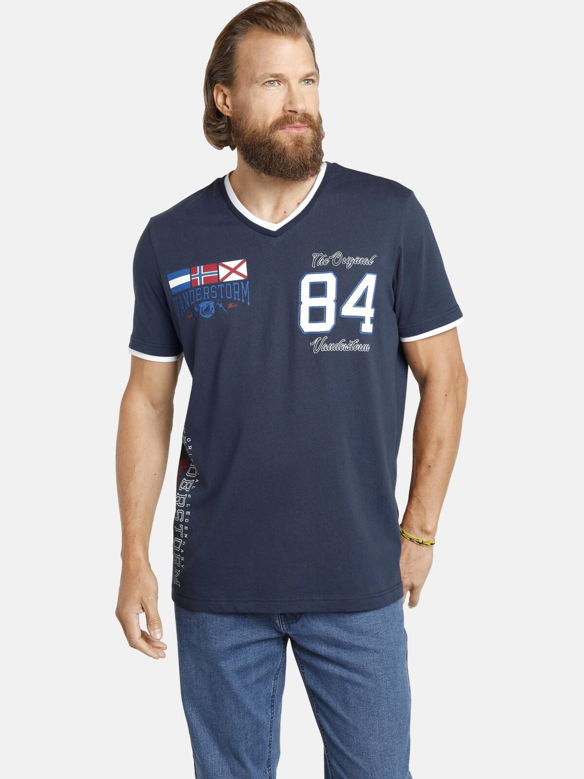 jan vanderstorm -  V-Shirt SANNO, Doppellagen-Look, Comfort Fit
