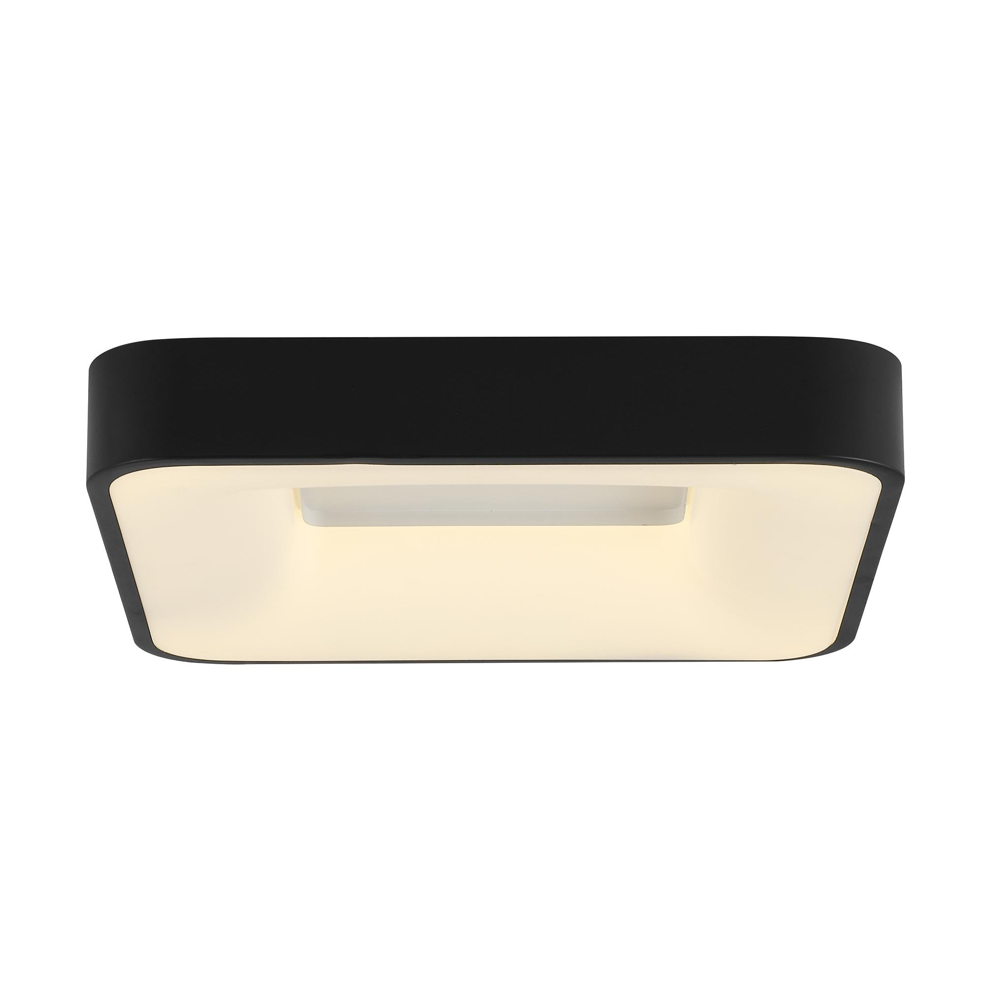 Brilliant Leuchten Saria LED Wand- und Deckenleuchte 40x40cm sand/dunkel grau