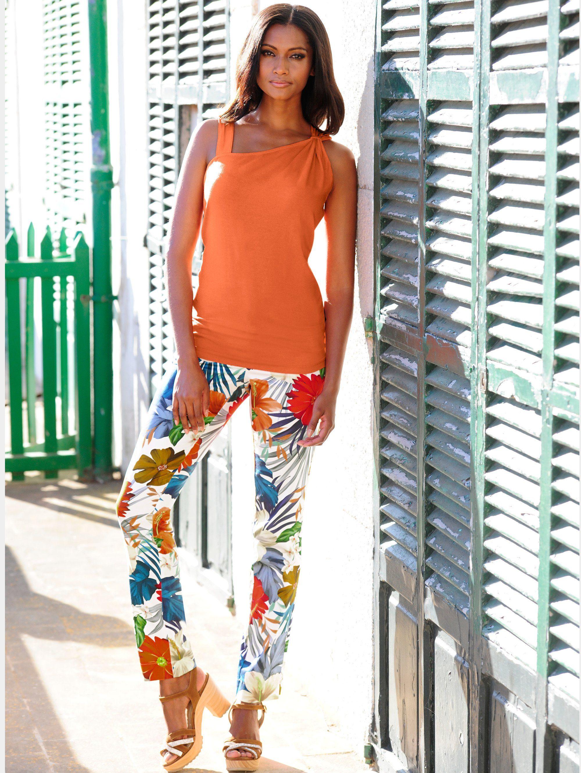 Alba Moda Strandhose mit Druck | Bekleidung > Hosen > Gerade Hosen | Alba Moda