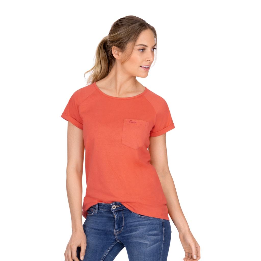 Trigema Shirt mit Brusttasche aus Biobaumwolle
