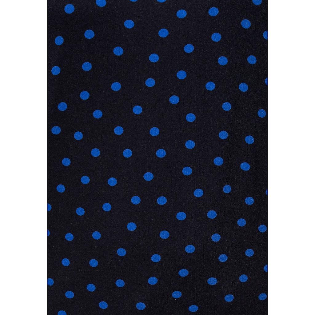 Aniston by BAUR Rundhalsshirt, mit Bindeband an den 3/4-langen Ärmeln