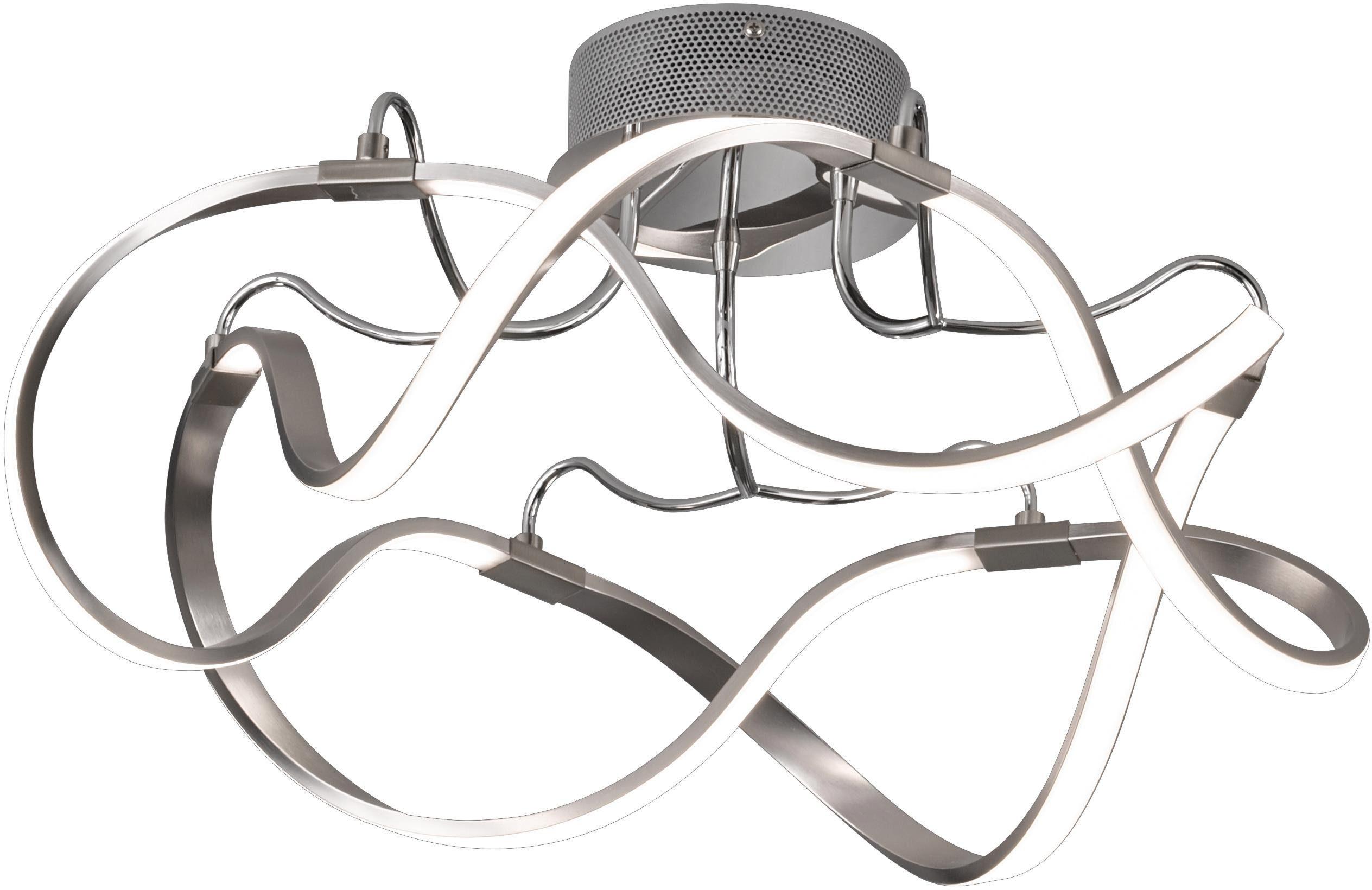 FISCHER & HONSEL LED Deckenleuchte NAXOS, LED-Board, Warmweiß, LED Deckenlampe