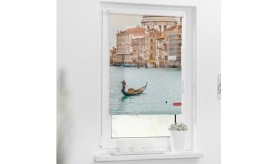 LICHTBLICK Seitenzugrollo »Rollo Klemmfix, ohne Bohren, Verdunkelung, Venedig Canal Grande - Blau«, verdunkelnd, Verdunkelung, freihängend kaufen