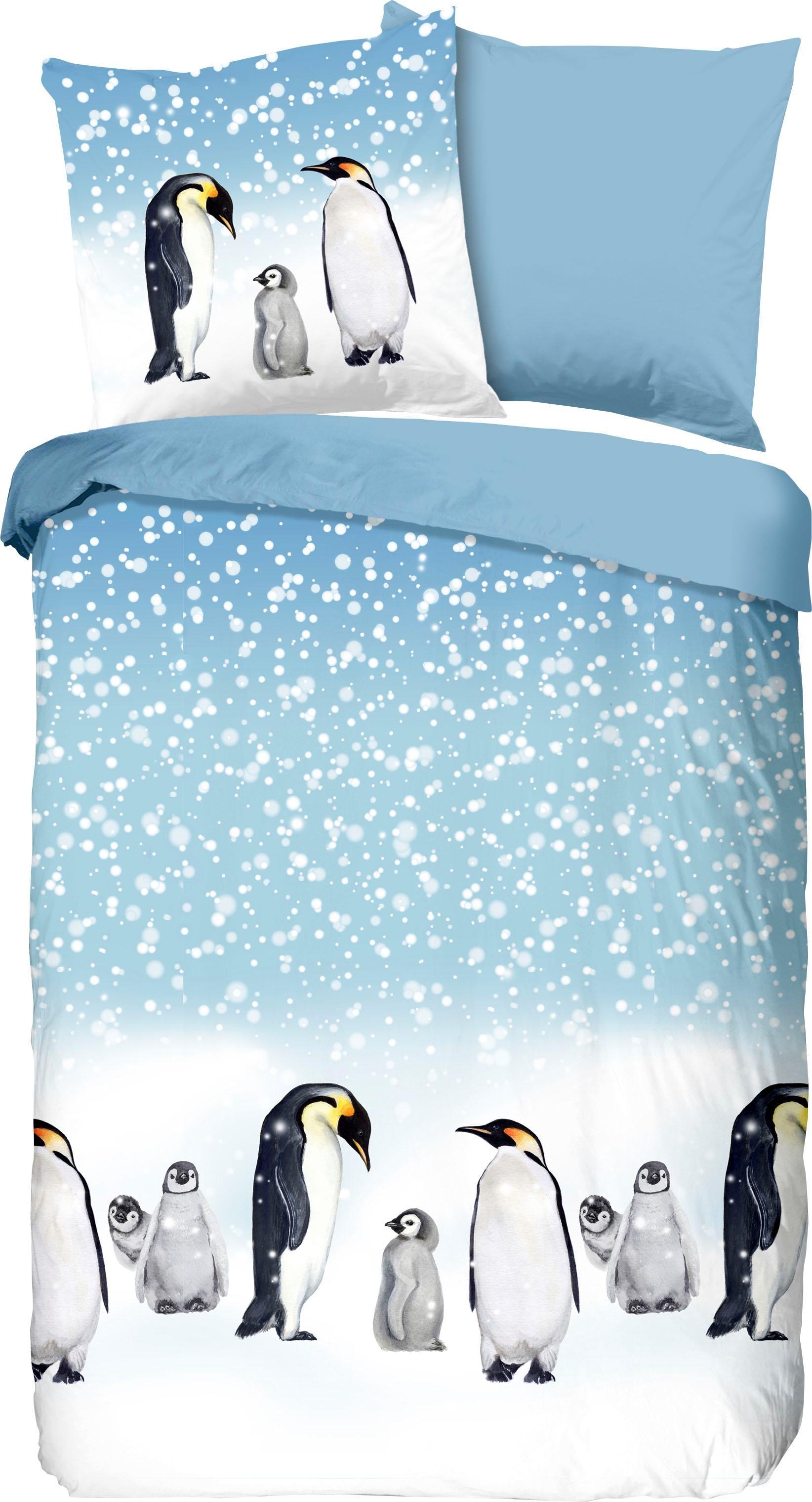 Wendebettwäsche Penguins good morning