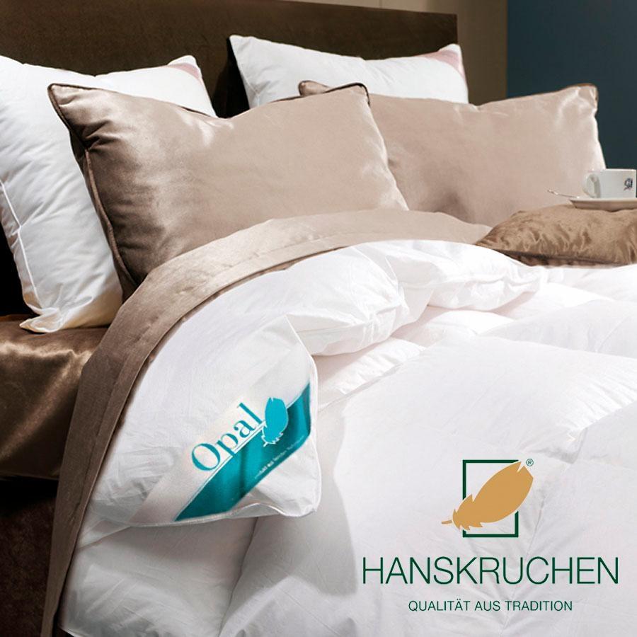 Daunenbettdecke Opal HANSKRUCHEN warm Füllung: 90% Daunen 10% Federn Bezug: 100% Baumwolle