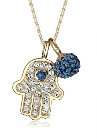 Elli Collierkettchen »Hamsa Hand Kristalle 925 Silber Grigri« kaufen