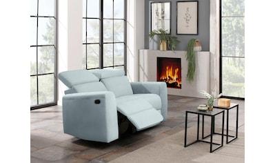 Home affaire 2-Sitzer »Sentrano«, wählbar zwischen manueller oder elektrischer Relaxfunktion mit USB-Anschluß, auch in NaturLEDER kaufen