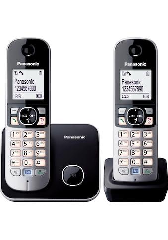 Panasonic Schnurloses DECT-Telefon »KX-TG6812GB«, ( ), mit Anrufer- und Wahlsperre kaufen