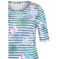 Rabe T-Shirt, mit geblümtem und geringeltem Allover-Muster