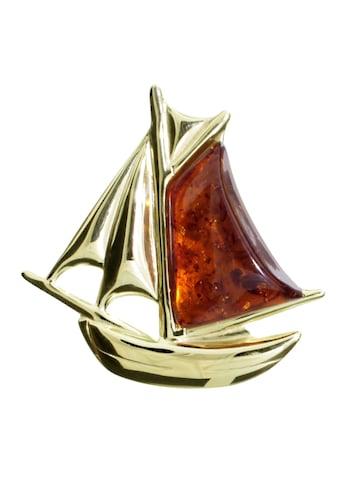 OSTSEE - SCHMUCK Brosche »Schiff Silber 925/000, vergoldet Bernstein« kaufen