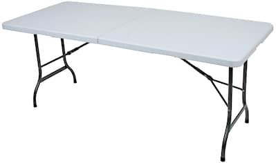 GARDEN PLEASURE Gartentisch »MUFARO«, Stahl/Kunststoff, klappbar, 244x76cm, weiß kaufen