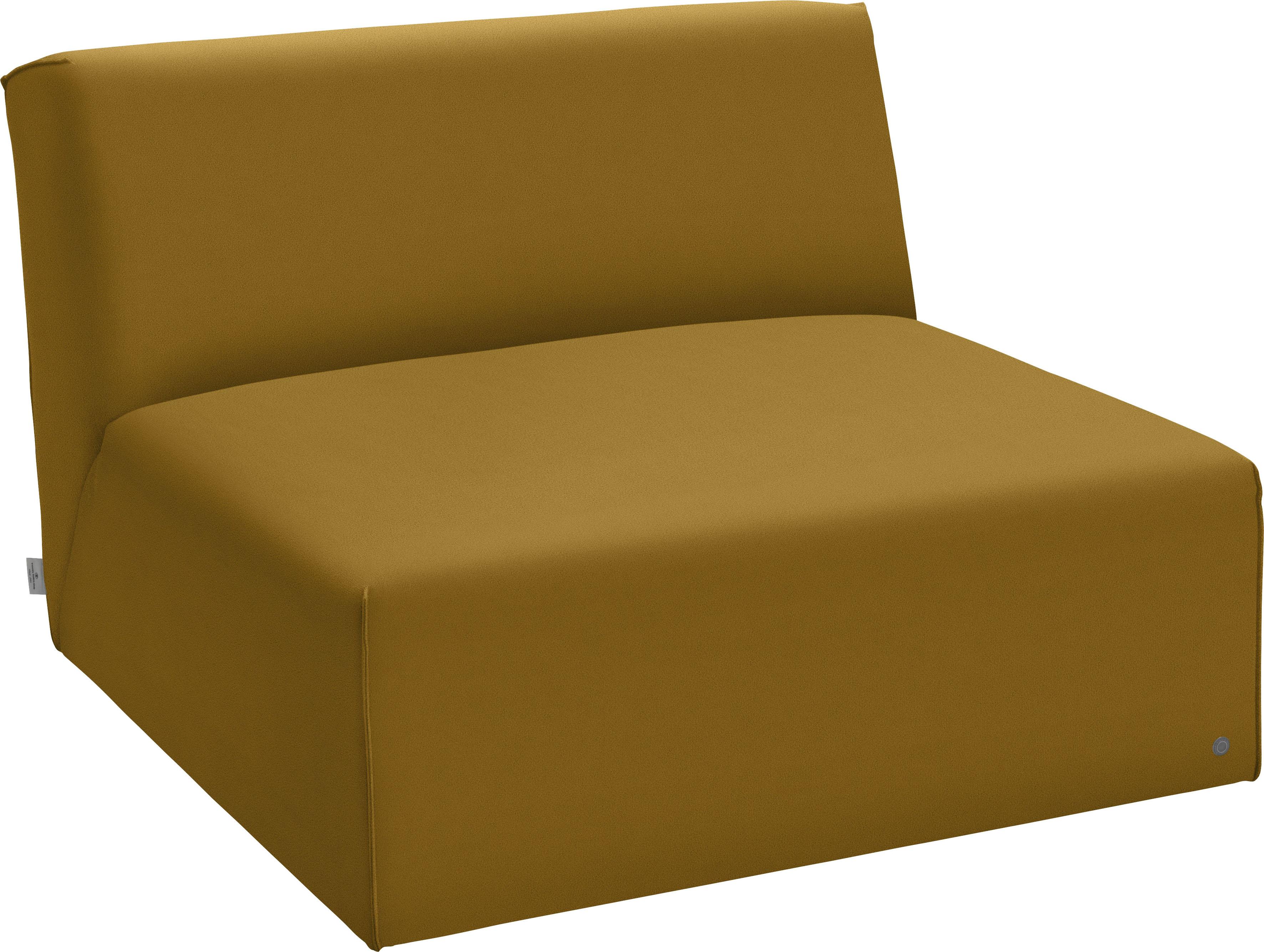 TOM TAILOR Sofaelement ELEMENTS, Sitzelement ohne Armlehne gelb Sofaelemente Sofas Couches