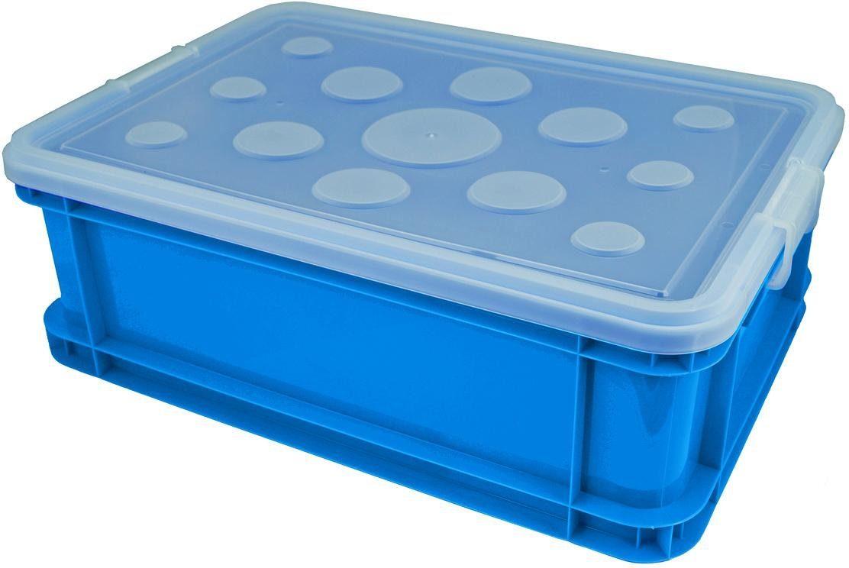Gies Aufbewahrungsbox, (Set, 4 St.), 30 Liter blau Kleideraufbewahrung Aufbewahrung Ordnung Wohnaccessoires Aufbewahrungsbox