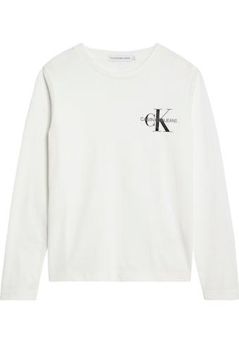 Calvin Klein Jeans Langarmshirt »CHEST MONOGRAM LS TOP« kaufen