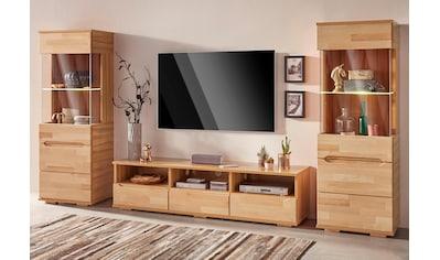 Woltra Wohnwand »Vetro«, (Set, 3 St.), teilmassives Holz kaufen