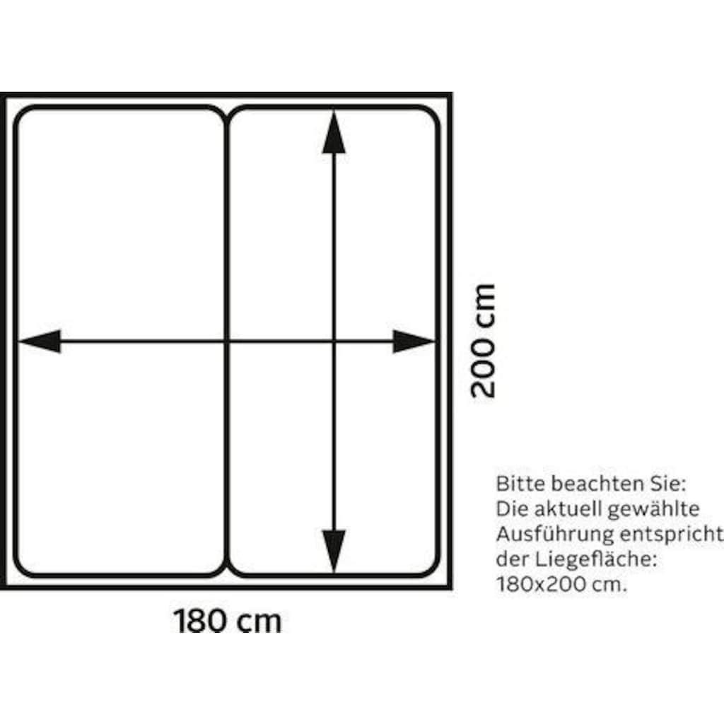 Jockenhöfer Gruppe Boxspringbett, mit Topper, Kissen und wandelbar zur Überlänge bis 210 cm