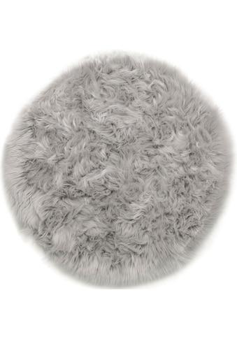 Andiamo Fellteppich »Ovium«, rund, 60 mm Höhe, Kunstfell, Wohnzimmer kaufen