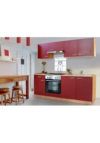 RESPEKTA Küchenzeile »Basic«, mit Glaskeramik-Kochfeld, Breite 210 cm kaufen