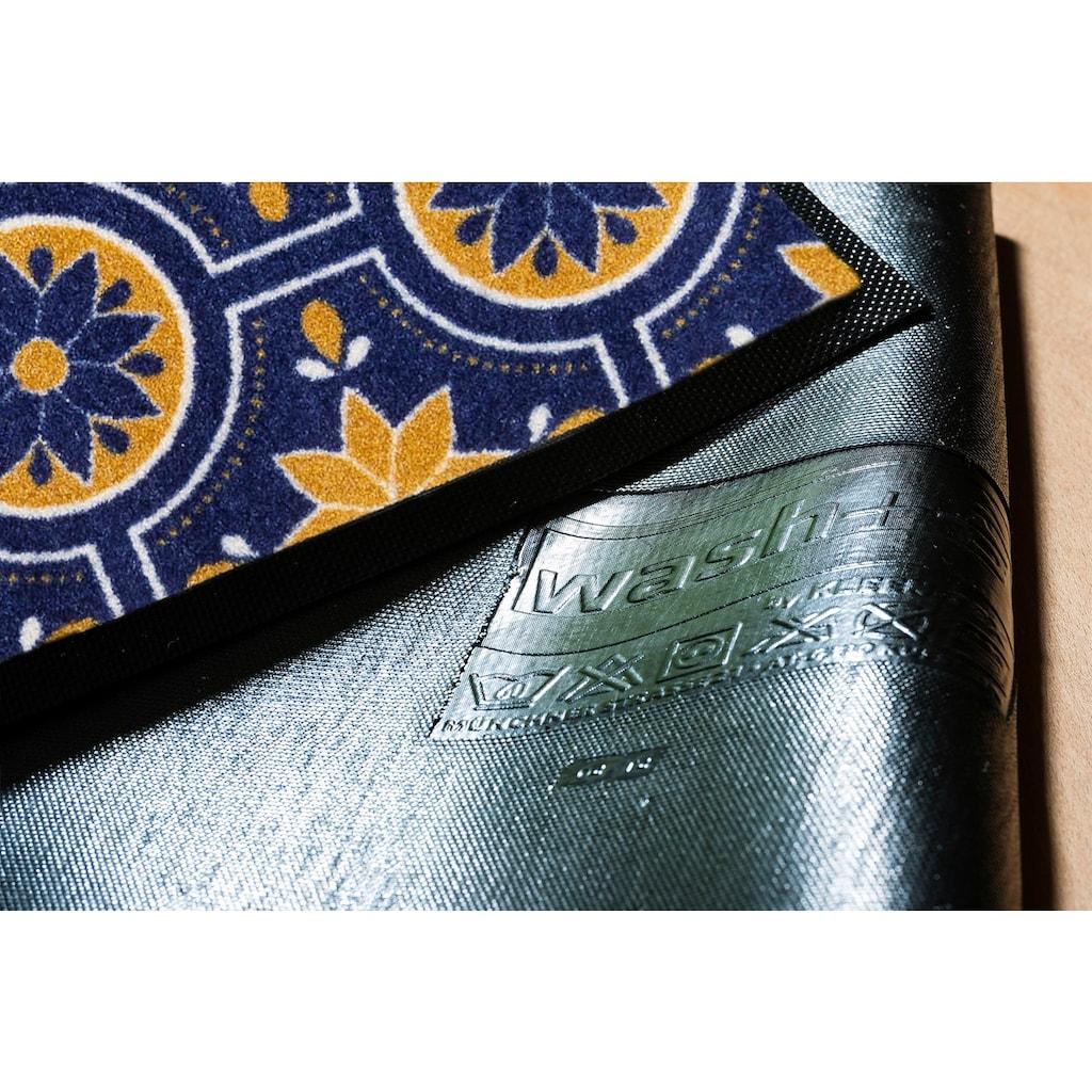 wash+dry by Kleen-Tex Läufer »Azulejo«, rechteckig, 7 mm Höhe, In- und Outdoor geeignet, waschbar
