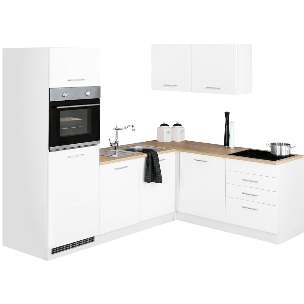HELD MÖBEL Winkelküche »Visby«, ohne E-Geräte, Stellbreite 240 x 180 cm