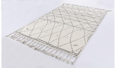 TOM TAILOR Teppich »Nomad«, rechteckig, 5 mm Höhe, Boho-Style, handgewebt, mit... kaufen