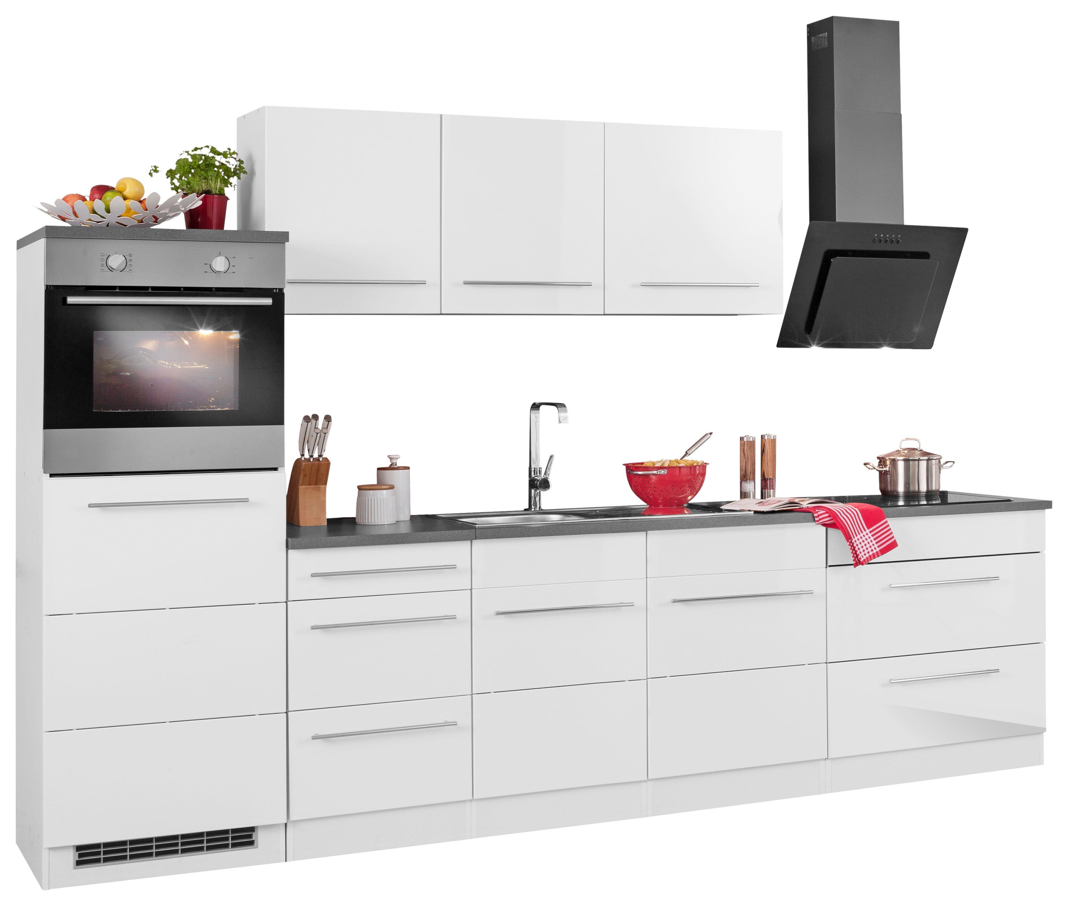 HELD MÖBEL Küchenzeile mit E-Geräten Trient Breite 290 cm Preisvergleich