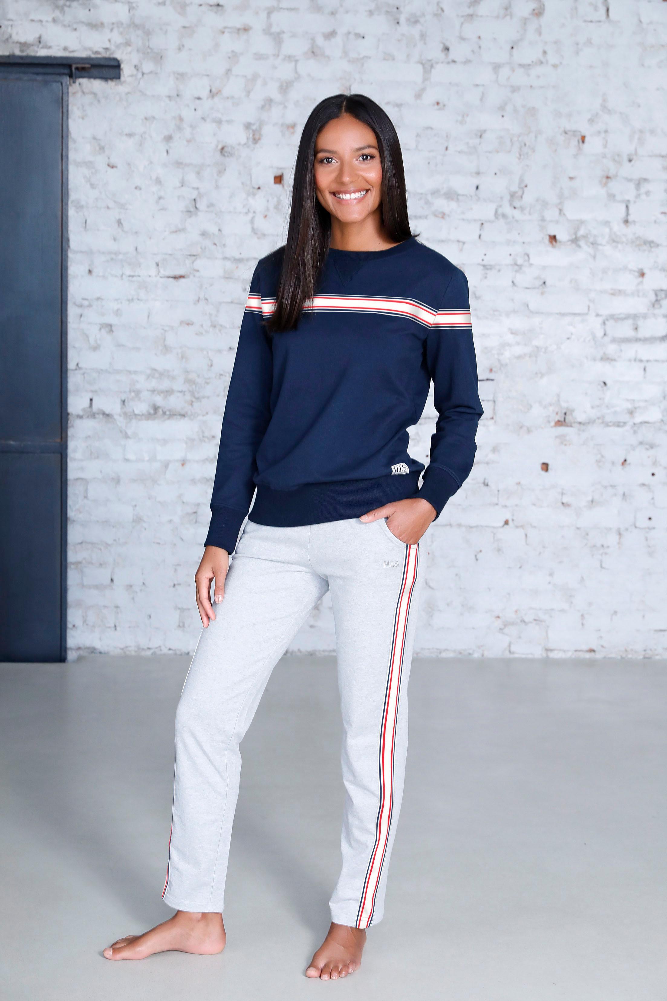Sweatshirt HIS Damenmode Sweatshirts Damen Pullover Gerade Form
