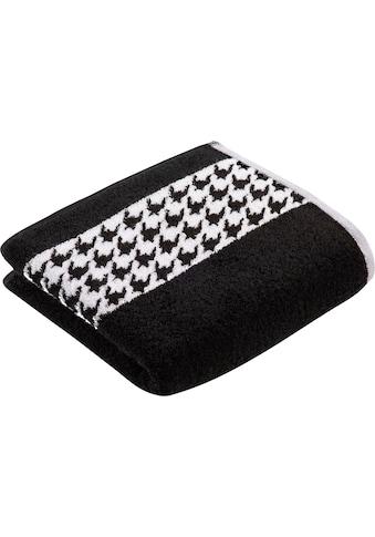 Vossen Handtücher »Monte«, (2 St.), im Hahnentrittdesign kaufen