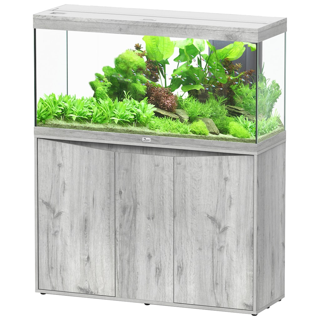 Aquatlantis Aquarien-Set »Splendid 240«, BxTxH: 120x40x144 cm, 294 l, mit Unterschrank in esche weiß