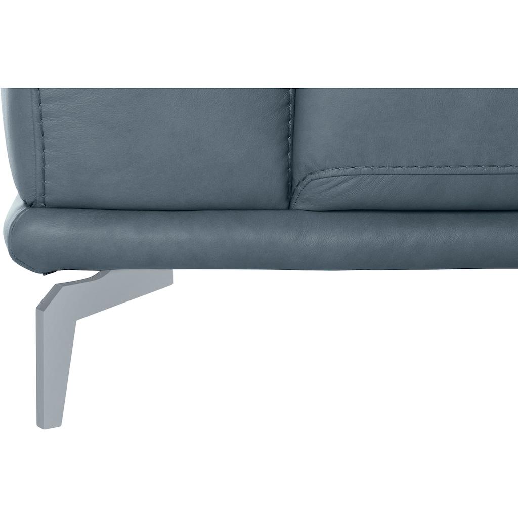 W.SCHILLIG 2,5-Sitzer »montanaa«, mit Metallfüßen in Silber matt, Breite 212 cm
