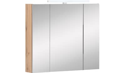 Schildmeyer Spiegelschrank »Duo«, Breite 80 cm, 3-türig, LED-Beleuchtung, Schalter-/Steckdosenbox, Glaseinlegeböden, Soft-Close, Made in Germany kaufen