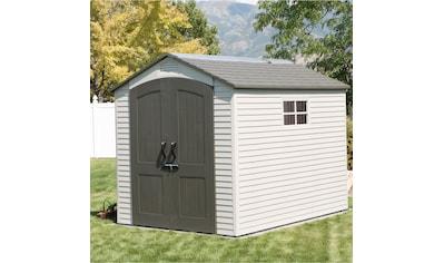 LIFETIME Set: Gerätehaus »Phoenix«, Kunststoff, BxT: 214x285 cm, inkl. Fußboden und Regale kaufen