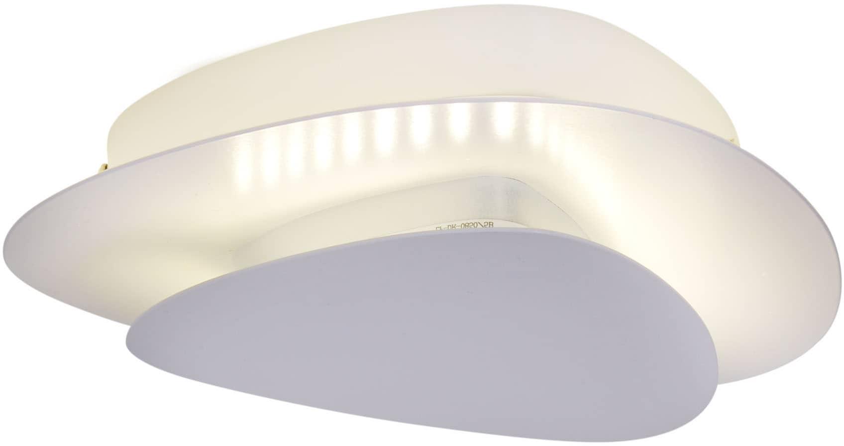 näve LED Deckenleuchte Liso, LED-Board, 1 St., Warmweiß, auch als Wanleuchte verwendbar