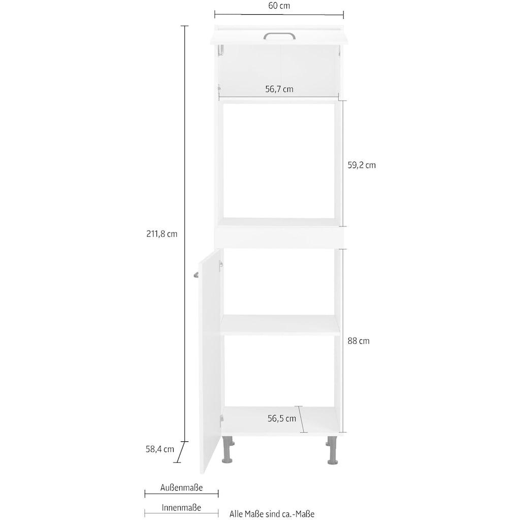 OPTIFIT Backofenumbauschrank »Elga«, mit Soft-Close-Funktion, höhenverstellbaren Füßen und Metallgriffe, Breite 60 cm