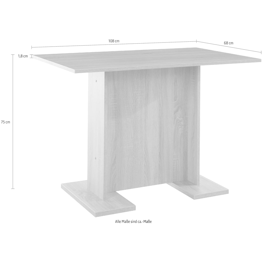 HELA Säulen-Esstisch »Tanja T«, Breite 108 cm