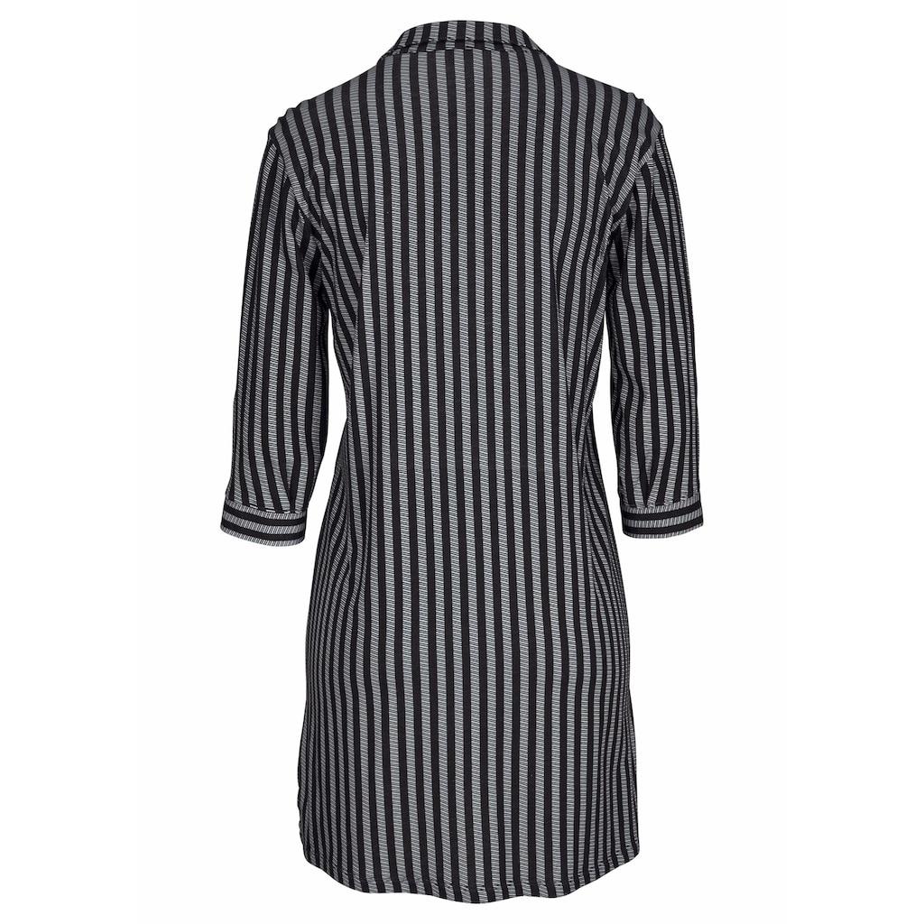 LASCANA Nachthemd, in klassischer Form mit Längsstreifen