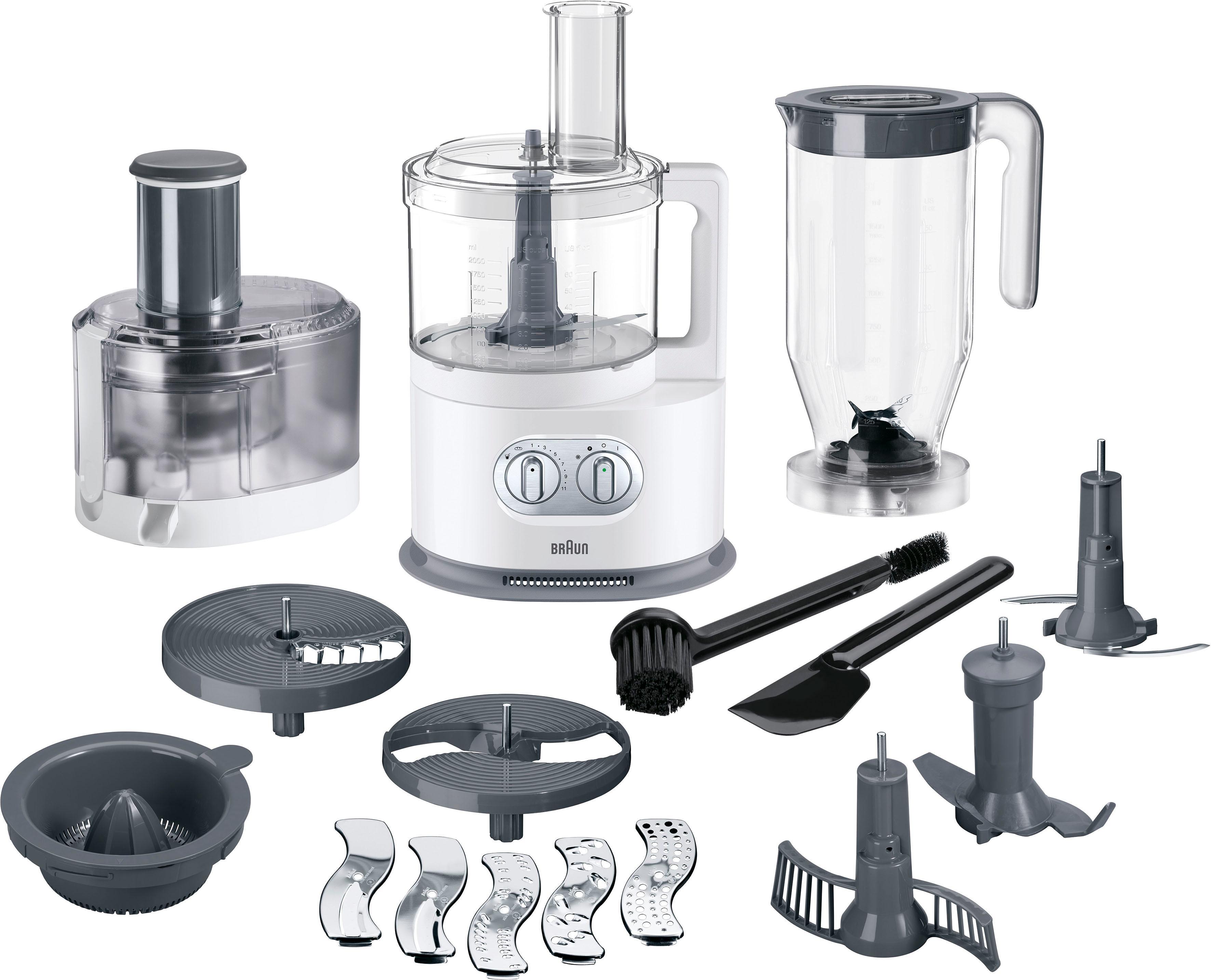 Braun Küchenmaschine mit Kochfunktion FP 5160, 1000 Watt, Schüssel 2 ...