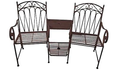 GARDEN PLEASURE Gartenbank »Rinjai«, Stahl, 157x99,5x70,5 cm kaufen