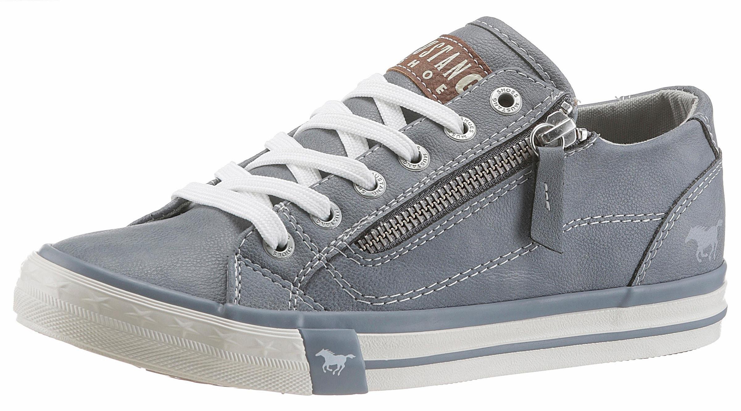 MUSTANG SHOES Damen Sneakers Slipper Schuhe Schnürhalbschuh Beige