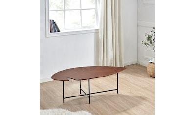 andas Couchtisch »Lexi«, mit einem schwarzen Metallgestell, mit einer schönen Tischplatte aus Holzfurnier, Breite 120 cm kaufen
