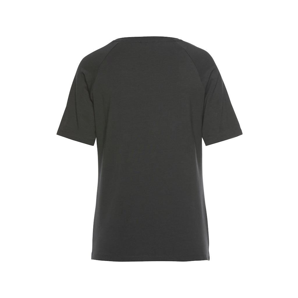 LASCANA ACTIVE T-Shirt, mit Rundhalsausschnitt