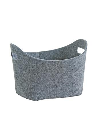 Zeller Present Aufbewahrungskorb, oval, aus Filz kaufen