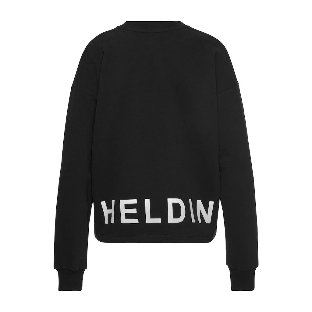 Herrlicher Sweatshirt »OTINA«, mit Statement-Druck
