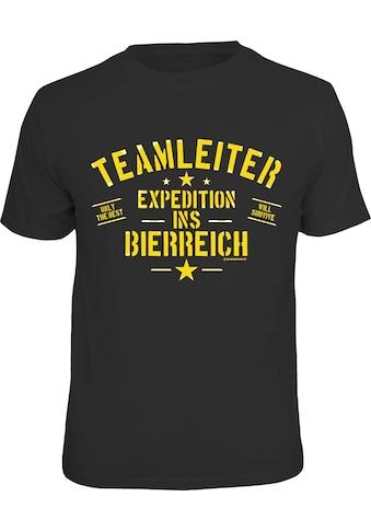 Rahmenlos T - Shirt mit lustigem Print kaufen