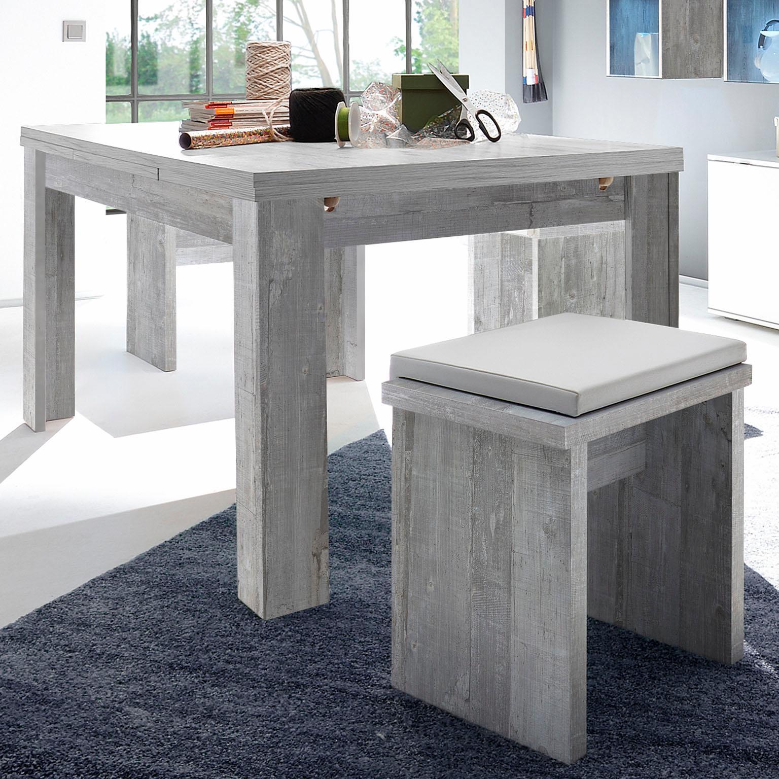 Esstisch, ausziehbar, Breite 180-280 cm grau Ausziehbare Esstische Tische Esstisch