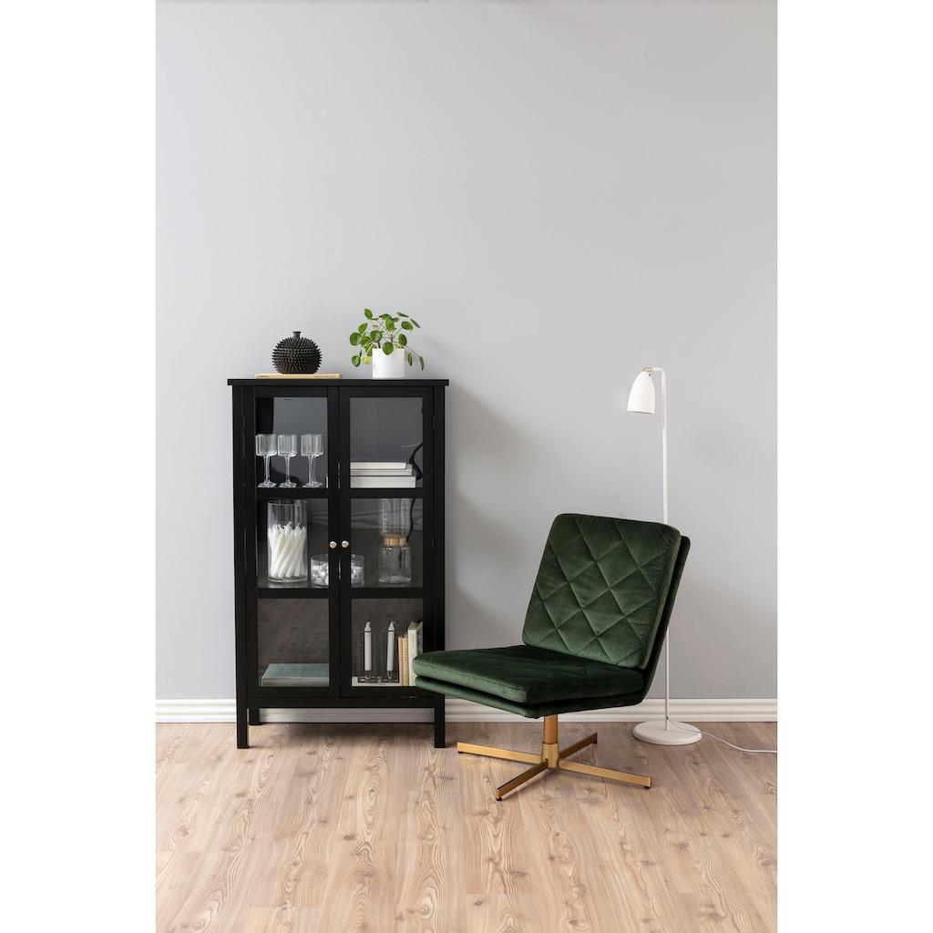 andas Polsterstuhl »Carlene«, mit schönem 4-Fuß Gestell aus messingfarbigen Metall und weichem Velvetbezug, Sitzhöhe 42 cm
